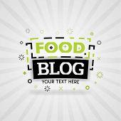 Green Logo For Food Blog. For Food Cover App, Booking Restaurant, Food Websites, Recipe Food, Finger poster