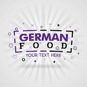 Purple Logo For German Food. For Food Cover App, Booking Restaurant, Food Websites, Recipe Food, Fin poster