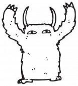 furry monster cartoon poster