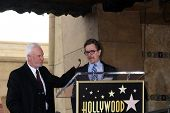 LOS ANGELES - MAR 16:  Malcolm McDowell, Gary Oldman at the Malcolm McDowell Walk of Fame Star Cerem