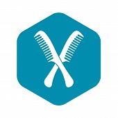 Combs Icon. Simple Illustration Of Combs Vector Icon For Web poster