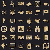 Navigation Icons Set. Simple Style Of 36 Navigation Icons For Web For Any Design poster