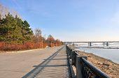picture of novosibirsk  - a novosibirsk city embankment on Ob river - JPG