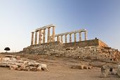 stock photo of poseidon  - Temple of Poseidon at Cape Sounion Greece - JPG