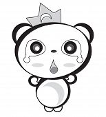 Panda Bw Shocked.eps