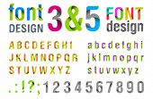 Font design. Ribbon Alphabet. vector. Usage: for title, identity etc.