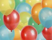 stock photo of megapixel  - Background of colorful party balloons  - JPG