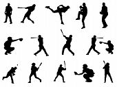 Baseball Players Silhouette