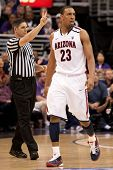 LOS ANGELES - MARCH 12: Arizona Wildcats F Derrick Williams #23 during the NCAA Pac-10 Tournament ba