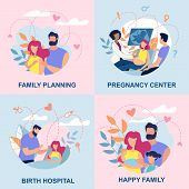 Set Family Consisting Men And Women Plan Process Birth Children To Replenish Family. This Is Include poster