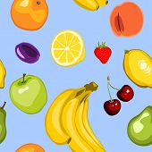 Seamless Summer Fruit Background