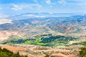 stock photo of covenant  - view of Promised Land from Mount Nebo in Jordan - JPG
