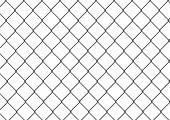 foto of chain link fence  - White no trespassing signboard on chain link fence - JPG