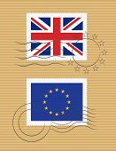 Flag Of United Kingdom And European Union