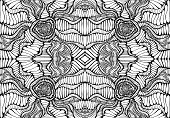 Coloring Page Abstract Pattern, Maze Of Ornaments. Psychedelic Stylish Card. Vector Illustration Ant poster