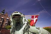Lion, Flag And Royal Castle