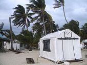 Storm With High Winds Hit Island In Belize