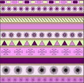 Vector Background Made Of Different Geometrical Figures.