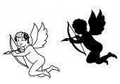 foto of cherub  - Cherub or cupid angel for religion and love concept - JPG