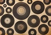 vintage musical background with vinyl LP