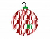 Merry Christmas Joy Word Ornament Ball
