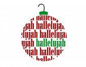 Hallelujah Text Word Christmas Vector Ornament Ball