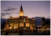 foto of sad christmas  - City hall in Novi Sad - JPG
