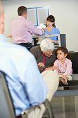 Patients In Doctor's Waiting Room