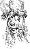 foto of dread head  - A hand drawn illustration of scary head - JPG