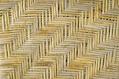 Rattan Weave Pattern With Worn Shellac