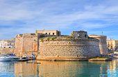 Angevine Aragonese Castle. Gallipoli. Puglia. Southern Italy.
