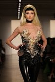 NEW YORK- SEPTEMBER 11: Model walks runway at the Blonds Collection for Spring/ Summer 2013