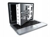 Secure Laptop, Open