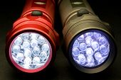 stock photo of diodes  - Two LED flashlights  - JPG