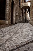 Medieval stone street, Italian Architecture - Umbria