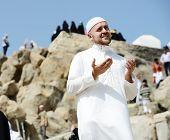 Muslim pilgrims at jabal Arafat, Hajj