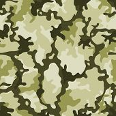 stock photo of camo  - Illustration of a military camouflage with green shades for army background and camo wallpapers - JPG