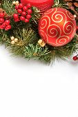 stock photo of christmas ornament  - Christmas ornaments on white background  - JPG