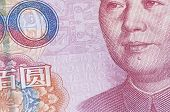 Close-up 100 RMB Banknote