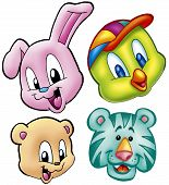 Cute Animal Heads poster