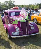 Purple 1936 Ford Coupe