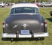 Black 1952 Oldsmobile Super 88 Rear View
