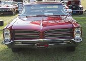 Red 1966 Pontiac Front View