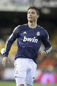 VALENCIA - JANUARY 20: Cristiano Ronaldo during Spanish Soccer League match between Valencia CF and