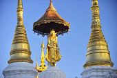 Buddha Statue On Top Of Pagoda Around Shwedagon Pagoda - Yangon,burma