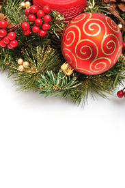 pic of christmas ornament  - Christmas ornaments on white background  - JPG