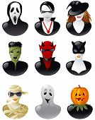 set of  halloween avatars