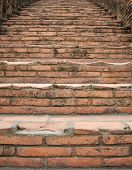 Brick Steps Leading Upward