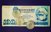 Retro Look Ddr Banknote