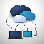 foto of workstation  - Cloud Computing Concept - JPG
